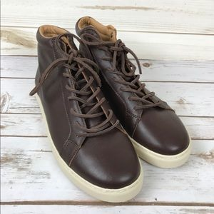 American Eagle Outfitters Brown Leather Hi Tops